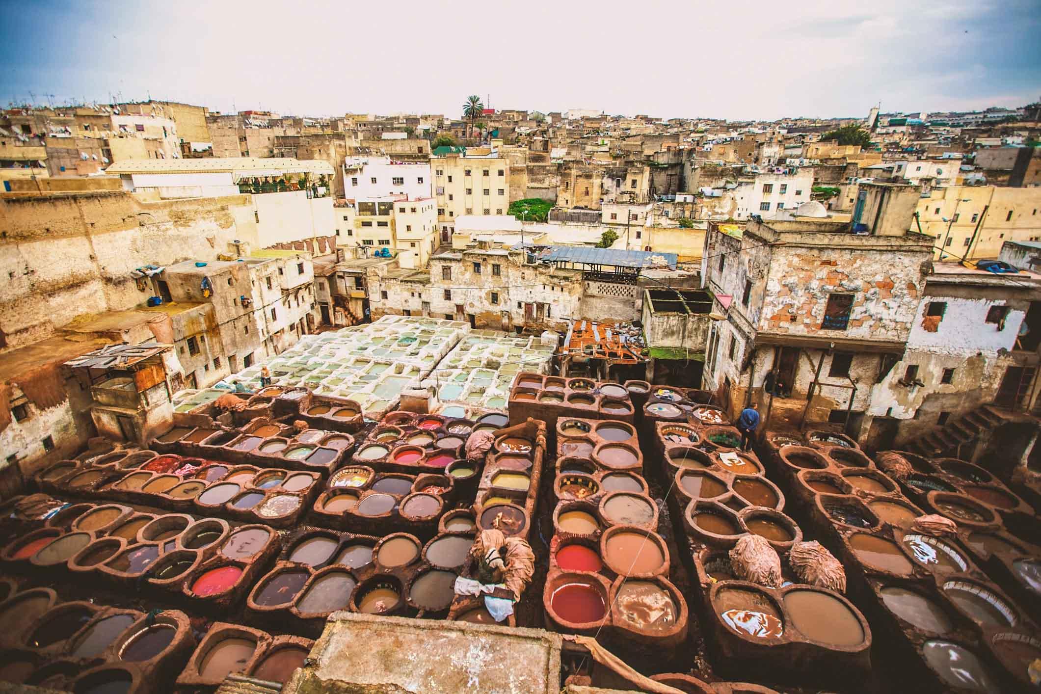 Fes Maroc - Les tanneries Chouara 01