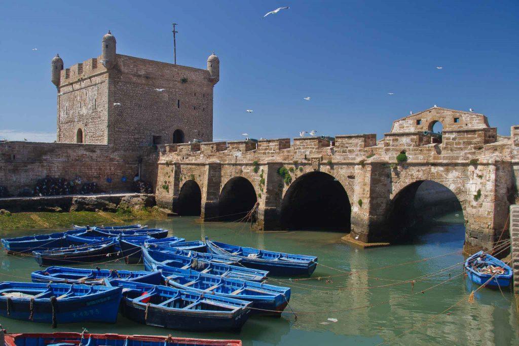 Essaouira Maroc - Le port de pêche Skala